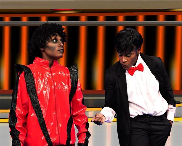 Papê e Neném se transformam em Michael Jackson (Foto: Renata de Paula / REDETV!)
