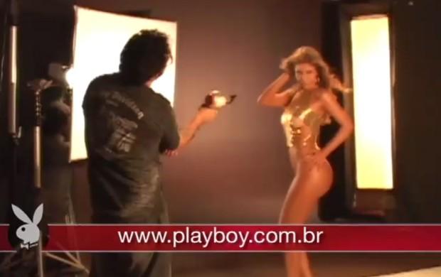 Making of do ensaio da Cacau para a Playboy (Foto: Playboy / Reprodução)
