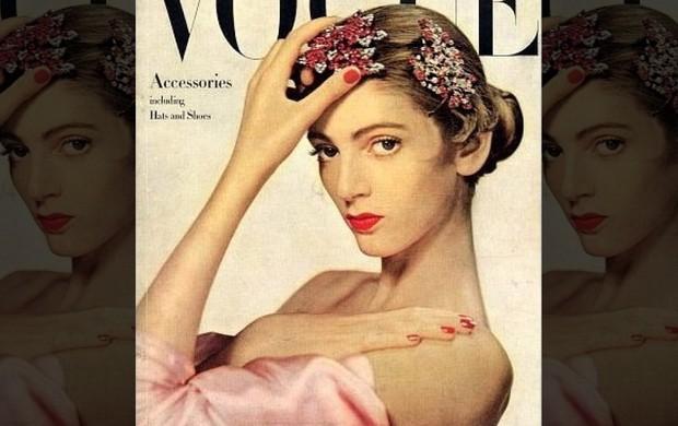 Carmen DellOrefice em sua primeira capa de revista, em 1947 (Foto: Divulgação)