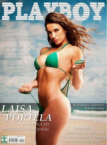 Capa falsa da Laisa na Playboy (Foto: Reprodução/Reprodução)
