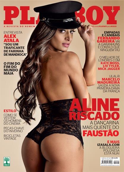 Aline Riscado na capa da 'Playboy' de junho (Foto: Playboy/Reprodução)
