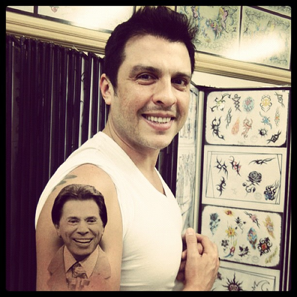 Ceará com tatuagem do Silvio Santos (Foto: Reprodução/ Instagram)