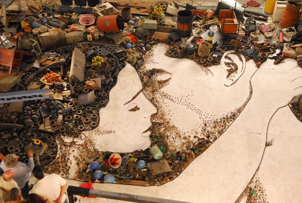 Imagem mostra obra de Vik Muniz que vai fazer parte da abertura da novela Passione