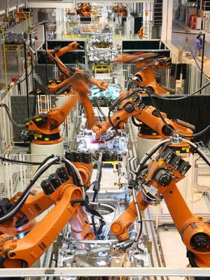 Linha de produção Volkswagen