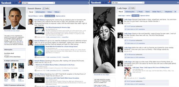 Páginas de Lady Gaga e Obama podem chegar a 10 milhões de fãs neste fim de semana.
