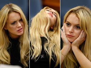Lindsay Lohan chora ao receber sentença de 90 dias de prisão