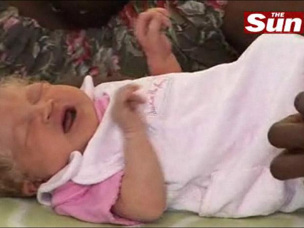 Frame de vídeo veiculado pelo The Sun com imagem de Nmachi