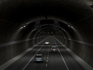 O túnel terá 5km de extensão