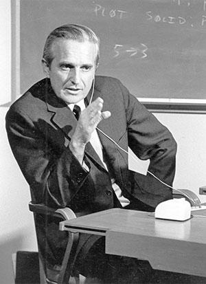 Douglas Engelbart, pai do mouse e avô do ambiente gráfico.