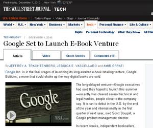 Loja on-line de livros do Google