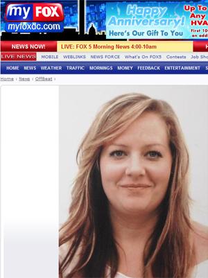 Amber Van Brunt em foto divulgada pela imprensa local.