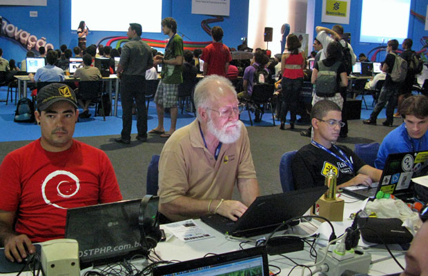 John Hall, da Linux International, na Campus Party 2011