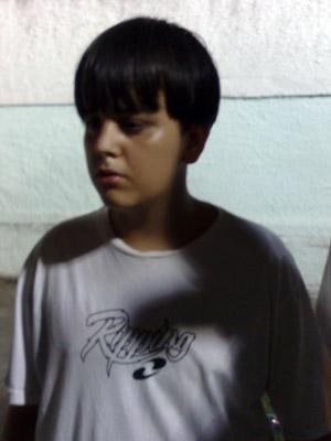 Mateus Moraes, de 13 anos, contou que conversou com o atirador (Foto: Fabrício Costa/G1)