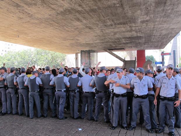 Protesto na Paulista (Foto: Marta Cavallini/G1)