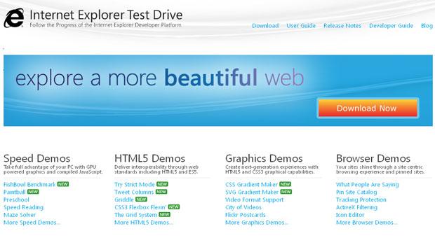 Prévia do Internet Explorer 10 foi apresentado pela Microsoft