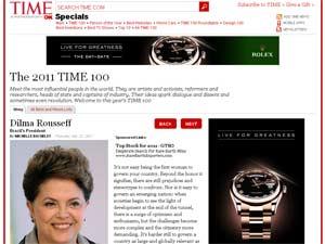 """Dilma Rousseff é listada entre as 100 pessoas mais influentes do mundo pela revista """"Time"""" (Foto: Reprodução/Divulgação)"""