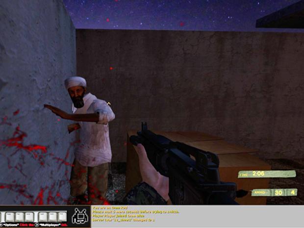 Imagem do jogo 'KumaWar Episode 107: Osama 2011', em que o jogador tenta matar Osama bin Laden (Foto: Reprodução)