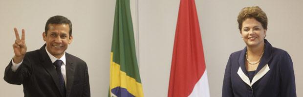 Dilma recebe o presidente do Peru
