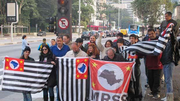 MRSP se encontrou no van do Masp na manhã deste sábado. (Foto: André Luís Nery/G1)