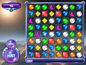 'Bejeweled', um dos games de maior sucesso da Popcap, agora faz parte do selo de jogos da Electronic Arts (Foto: Divulgação)