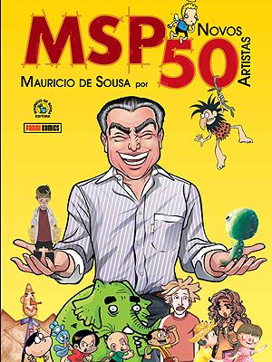 Capa de 'MSP Novos 50 – Mauricio de Sousa Por 50 Novos Artistas' (Foto: Divulgação)