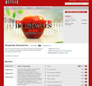"""O Netflix também disponibiliza seriados de TV, como """"Desperate Housewife"""", (Foto: Reprodução)"""