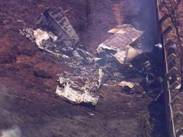 Aeronave caiu em Cotia (Foto: Reprodução/TV Globo)