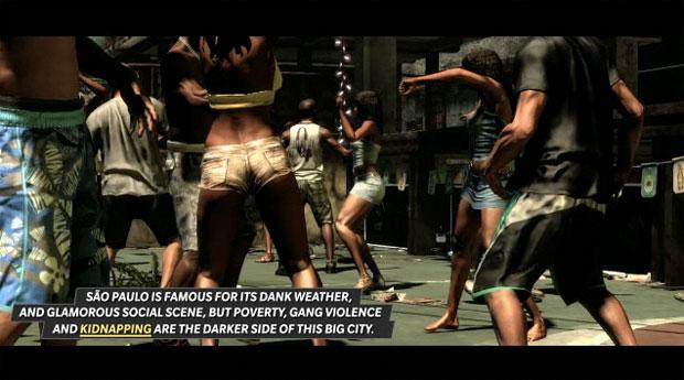 Produtora retirou informação sobre funk em cena de trailer com informações de 'Max Payne 3' (Foto: Divulgação)