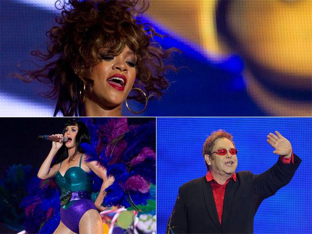 Rihanna, Katy Perry e Elton John tocam no 1º dia de Rock in Rio (Foto: Flavio Moraes/G1)
