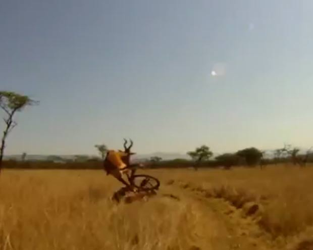 Evan van der Spuy pedalava por trilha quando foi atingido. (Foto: Reprodução)