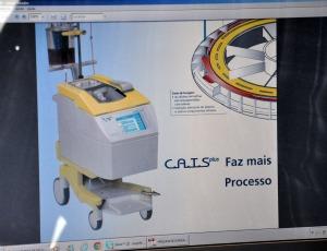 Modelo de máquina de autotransfusão que será usado em MS (Foto: Hélder Rafael/G1 MS)