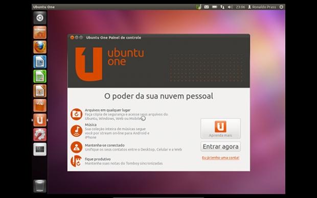 O Ubuntu One é o serviço de compartilhamento de arquivos na 'nuvem'  (Foto: Reprodução)