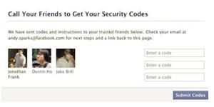 Facebook demonstra a ferramenta que usa os amigos de confiança dos usuários (Foto: Reprodução)