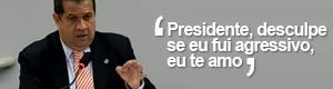 Lupi diz que ama Dilma e pediu desculpas pelo 'abatido à bala' (TV Câmara)