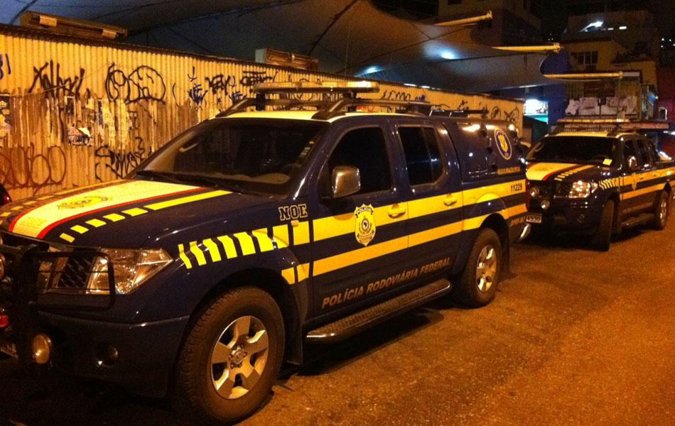 Polícia Rodoviária Federal também dá apoio à operação na Rocinha