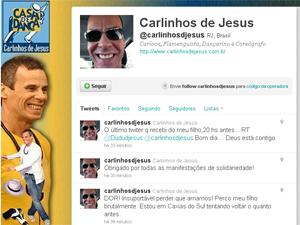 Twitter do Carlinhos de Jesus (Foto: Reprodução/Twitter)