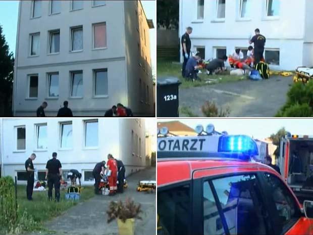 Em 2010, um casal de amantes caiu da janela do apartamento enquanto mantinha relações sexuais na cidade de Lübeck, na Alemanha. O homem e a mulher que não tiveram os nomes divulgados caíram de uma altura de cinco metros. (Foto: Reprodução)