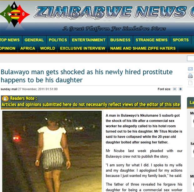 Homem diz que descobriu que prostituta que contratou era sua própria filha. (Foto: Reprodução)