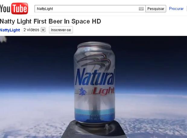 Vídeo mostra momento no qual a latinha atinge a altura de 27,5 quilômetros. (Foto: YouTube / Reprodução)