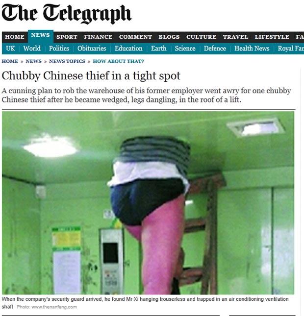 Funcionário tentou se vingar da empresa, mas acabou entalado. (Foto: Reprodução/Daily Telegraph)