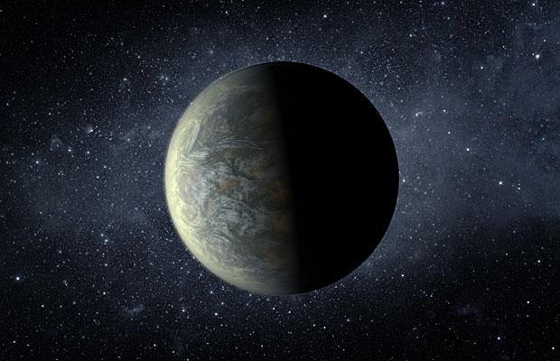 Ilustração do Kepler 20f tem mais ou menos o tamanho da Terra (Foto: NASA/JPL-Caltech/T. Pyle)
