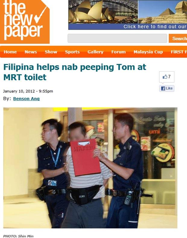 Homem foi preso tentando espiar o banheiro feminino. (Foto: Reprodução)