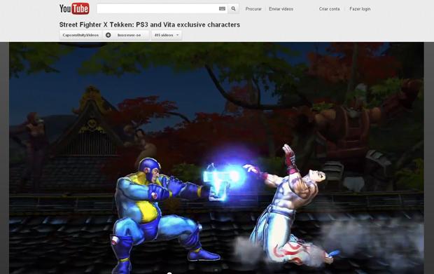 """Megaman aparece com uma arma e visual inspirado na capa norte-americana do primeiro jogo, de 1987. """"Street Fighter X Tekken"""" será lançado em 6 de março (Foto: Reprodução)"""