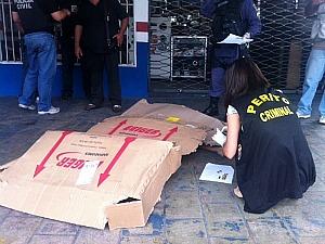 Pai da criança foi morto com tiro no peito (Foto: Carlos Eduardo Matos/G1)