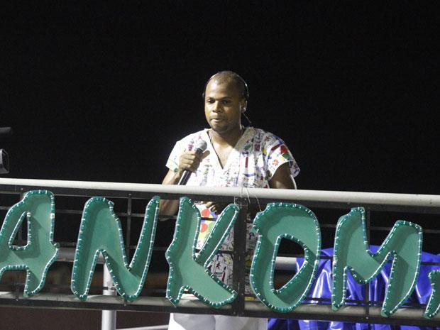 Bankoma mostra referências do terreiro São Jorge Filho da Goméia no carnaval de Salvador (Foto: Edgar de Souza/G1)
