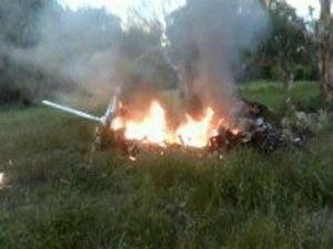 Aeronave apresentou problemas no motor logo após a decolagem (Foto: Carlos Varella/ VC no G1)