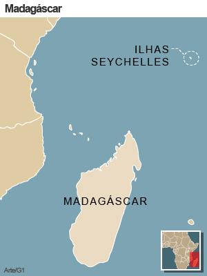Mapa Madagáscar (Foto: Arte/G1)