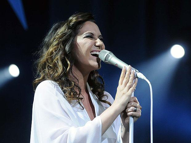 Maria Rita no show para convidados na turnê Viva Elis, no Vivo Rio (Foto: Alexandre Durão/G1)