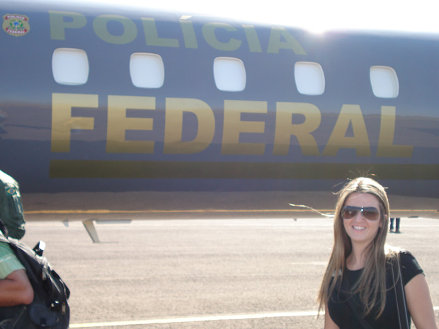 Natália Coimbra trabalhou na segurança dos Jogos Panamericanos do Rio de Janeiro, em 2007 (Foto: Arquivo Pessoal)