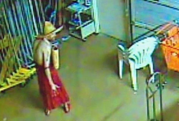 Cena foi filmada pelas câmeras de segurança da loja. (Foto: Reprodução)